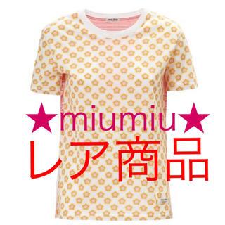 ミュウミュウ(miumiu)のレアデザイン★miumiu ミュウミュウ Tシャツ トップス 服(Tシャツ(半袖/袖なし))