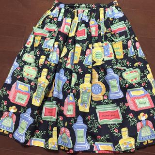 ジェーンマープル(JaneMarple)のジェーンマープル ♡キャンディードールプリントスカート♡(ひざ丈スカート)