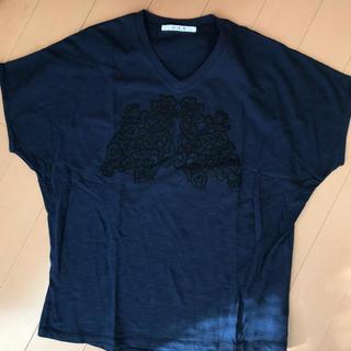 ハク(H.A.K)のH.A.k  紺色フリーサイズTシャツ(Tシャツ(半袖/袖なし))