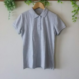 シマムラ(しまむら)のしまむら グレー シンプルポロシャツ(ポロシャツ)