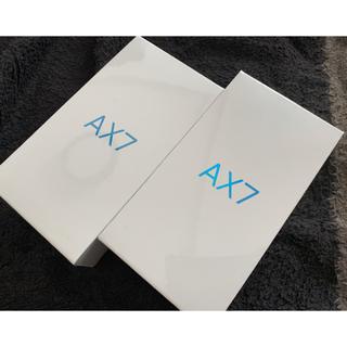 アンドロイド(ANDROID)の新品 OPPO AX7 ゴールド 2台(スマートフォン本体)