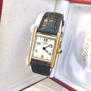 カルティエ(Cartier)の美品✨Cartierマストタンク6点アラビア文字盤レディース(腕時計)