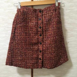 メリージェニー(merry jenny)のメリージェニー 台形スカート 赤色(ひざ丈スカート)