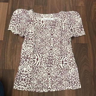 ザラ(ZARA)のZARA BASICパワショル ヒョウ柄Tシャツ(Tシャツ(半袖/袖なし))