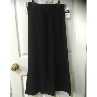 シマムラ(しまむら)の新品しまむらワッフルフレアマキシスカートL黒(ロングスカート)