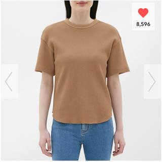 ジーユー(GU)のGU ワッフルT ブラウン(Tシャツ(半袖/袖なし))