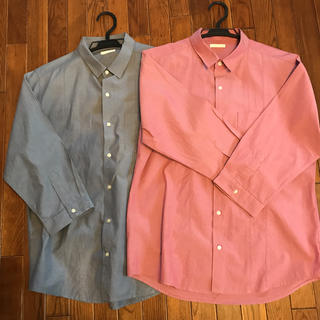 ジーユー(GU)の【GU 】メンズシャツ  2枚セット(シャツ)