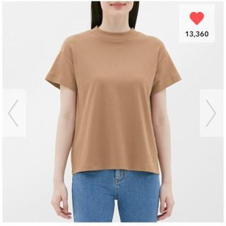 ジーユー(GU)のスムースT ブラウン XL(Tシャツ(半袖/袖なし))