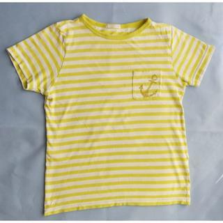 ジーユー(GU)のイエローボーダーTシャツ*130(Tシャツ/カットソー)