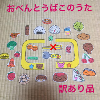 パネルシアター☆おべんとうばこのうた(訳あり品)(型紙/パターン)