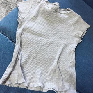 ジーユー(GU)のGU リブtシャツ 140(Tシャツ/カットソー)