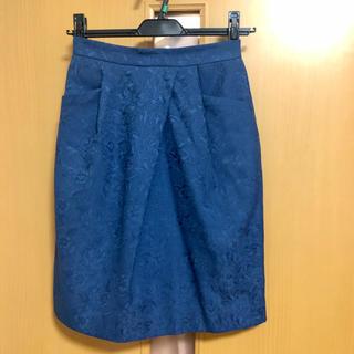 ティアンエクート(TIENS ecoute)の【ティアンエクート】スカート 美品✨ (ブルー/青)(ひざ丈スカート)