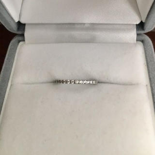 ヨンドシー(4℃)の4℃ ダイヤモンド ハーフエタニティ ピンキーリング Pt950 1.3g(リング(指輪))