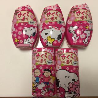 消臭力 桜の香り  スヌーピー    5個(日用品/生活雑貨)