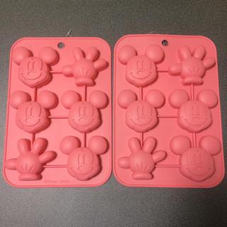 ディズニー(Disney)の【新品未使用】DAISO ミッキー シリコン型 大サイズ 2個セット(調理道具/製菓道具)