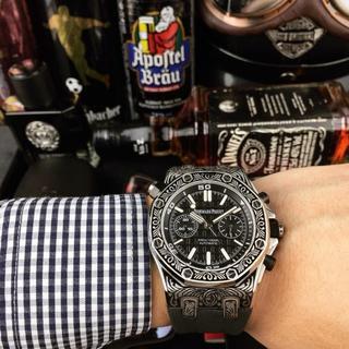 オーデマピゲ(AUDEMARS PIGUET)のメンズ AUDEMARS PIGUET オーデマピゲ 自動巻き おしゃれ 腕時計(ラバーベルト)