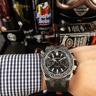オーデマピゲ(AUDEMARS PIGUET)のオーデマピゲ  メンズファッション K8 自動巻き 黒 腕時計(ラバーベルト)