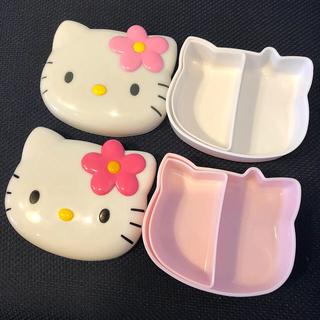 ハローキティ(ハローキティ)のキティ☆ランチボックス2個セット☆お弁当箱(弁当用品)