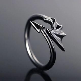 悪魔の羽根&尻尾リング グレー フリーサイズ(リング(指輪))