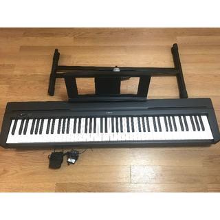 ヤマハ(ヤマハ)の電子ピアノ ヤマハ YAMAHA P-45 スタンド付き(電子ピアノ)