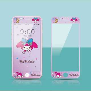 マイメロディー  iPhone 用 強化ガラス 全面保護フィルム(保護フィルム)