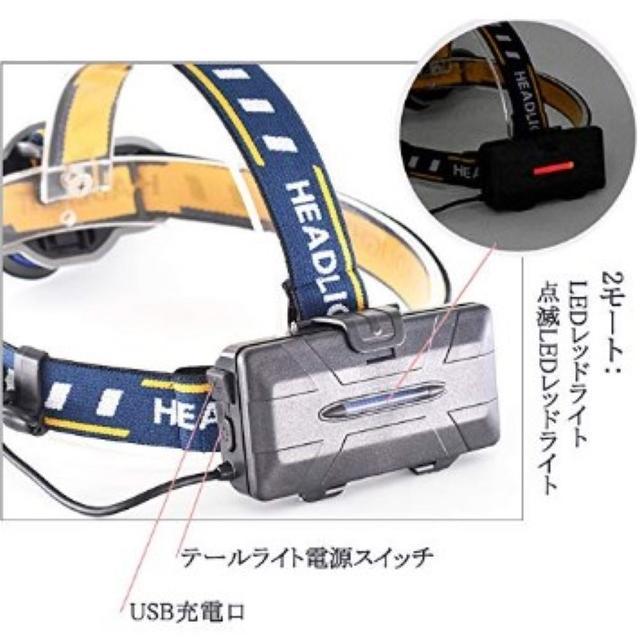 ★即日発送★ 史上最強 12000ルーメン ヘッドライト 防水 USB 電池付属 スポーツ/アウトドアのアウトドア(ライト/ランタン)の商品写真