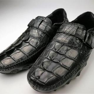 最高級 クロコダイル 紳士ビジネスシューズ 本物保証 貴重品(スニーカー)