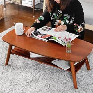 センターテーブル ローテーブル 木製 折り畳み おしゃれ(ローテーブル)