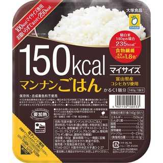 大塚食品 マイサイズ マンナンごはん 140g×6個(米/穀物)