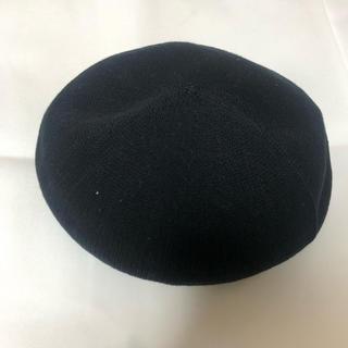 バーバリーブルーレーベル(BURBERRY BLUE LABEL)の黒色ベレー帽(ハンチング/ベレー帽)