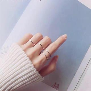 再入荷ステンレスリング シンプル 華奢  可愛い アレルギー 指輪 超極細リング(リング(指輪))