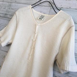 アルファインダストリーズ(ALPHA INDUSTRIES)のAlpha ワッフル生地 Tシャツ メンズ 美品(Tシャツ/カットソー(半袖/袖なし))