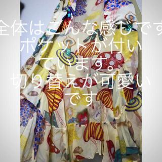 ツモリチサト(TSUMORI CHISATO)のツモリチサト 新品 きのこ 女の子 が ❤️持つ 可愛いプリント スカート(ひざ丈スカート)