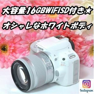 キヤノン(Canon)の★大容量16GBWiFiSD付き!★iPhone転送OK!★キャノン X7(デジタル一眼)