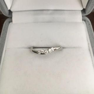 ダイヤモンドシライシ ダイヤモンド リング Pt950 0.105ct 3.6g(リング(指輪))