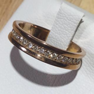 美品❗️ダイヤモンドリング K18 ゴールド 指輪約15号(リング(指輪))