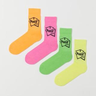 エイチアンドエム(H&M)の新品 h&m post it socks 43/45 1ペア(ソックス)
