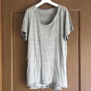 シシ(sisi)のsisii シシ レディース ロングTシャツ チュニック 半袖 グレー(Tシャツ(半袖/袖なし))