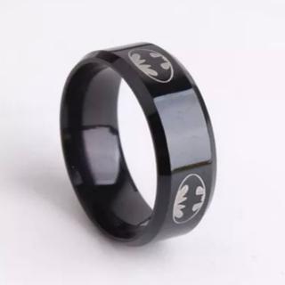 バットマンロゴ入りステンレスリング(リング(指輪))