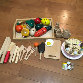 木のおもちゃ おままごとセット バースデーケーキ(知育玩具)