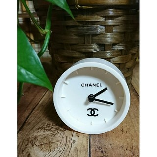 シャネル(CHANEL)のロゴ*卓上時計(置時計)
