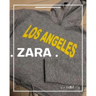 ザラ(ZARA)のZARA ☻︎ クロップド丈パーカー(パーカー)