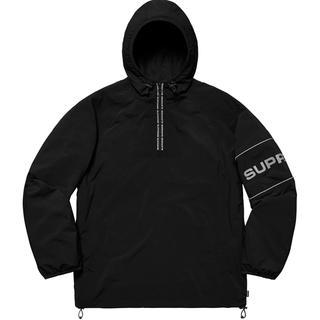 Supreme - Nylon Ripstop Hooded Pullover 黒 ブラック