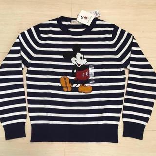 ユニクロ(UNIQLO)のUNIQLO ミッキー スタンズ セーター*KIDS 150*新品 ディズニー(ニット)