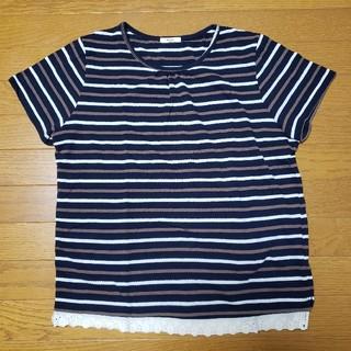 シマムラ(しまむら)のしまむら ボーダーTシャツ(Tシャツ(半袖/袖なし))