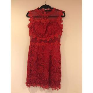 赤 レッドドレス(ミディアムドレス)
