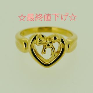 ティファニー(Tiffany & Co.)の☆最終値下げ☆ ティファニー K18 ハートリボン リング(リング(指輪))