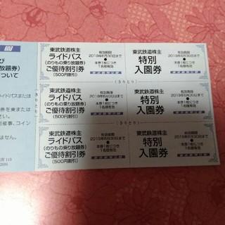 東武動物公園特別入園券 ライドパス500円優待割引券 各3枚セット(動物園)