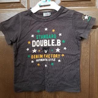 ダブルビー(DOUBLE.B)のダブルB スタンダード Tシャツ サイズ 100 焦げ茶 ダークブラウン 茶色 (Tシャツ/カットソー)