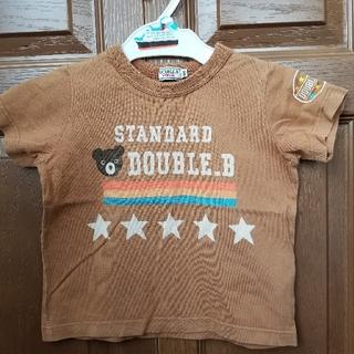 ダブルビー(DOUBLE.B)のダブルB スタンダード Tシャツ 100 赤茶色 ライトブラウン 熊 星(Tシャツ/カットソー)
